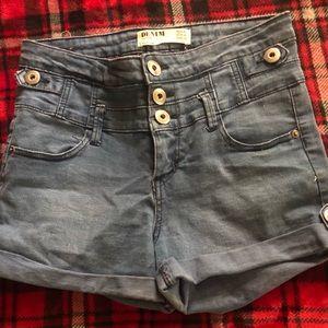 Cotton On High Rise Denim Shorts Size 4